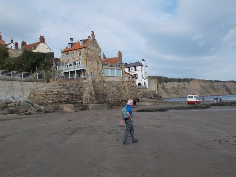 ROBIN HOODS BAY.    White building is the Bay Hotel.