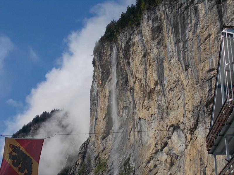 LAUTERBRUNNEN,SWITZERLAND. Wispy waterfall.