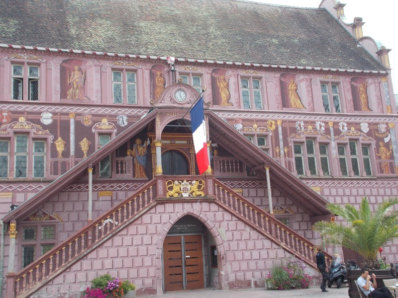 FRANCE  MULHOUSE.   Former Town Hall ,now a Museum.  Dates from 1551.-- There are also Train and Car Museums in Mulhouse.