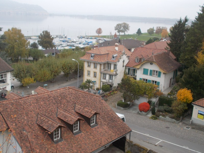 MURTEN  SWITZERLAND....View of Lake Morat , from city wall.