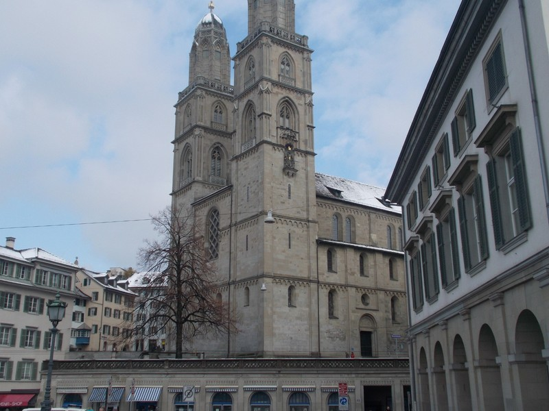 ZURICH  SWITZERLAND.  Grossmunster Protestant  Church.