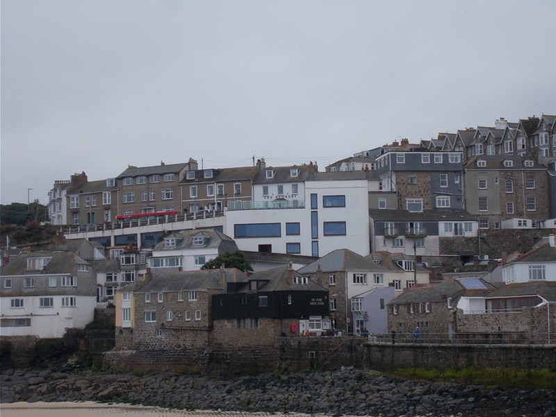 ST.IVES CORNWALL. The Rookery Guest  house can be seen. It is the small white building ,above the large white building.