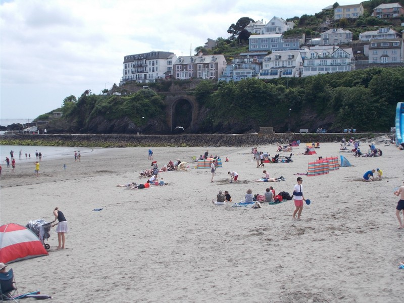 LOOE CORNWALL. On the beach,with sand in your toes.