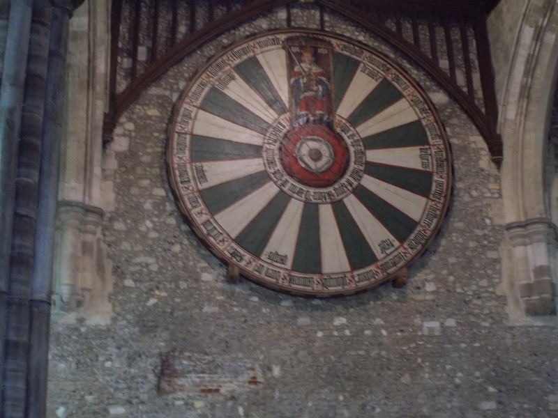 WINCHESTER   Round Table displayed on wall of Great Hall.