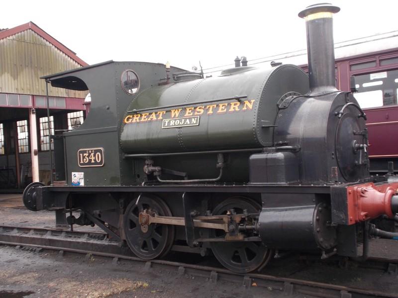 "DIDCOT RAILWAY CENTRE.----""Trojan"" built at Bristol in 1897.  Originally worked at Newport Town Docks."