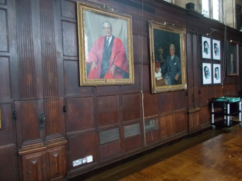 OXFORD UK.  Red portrait is Harold Macmillan once the Prime Minister of UK.