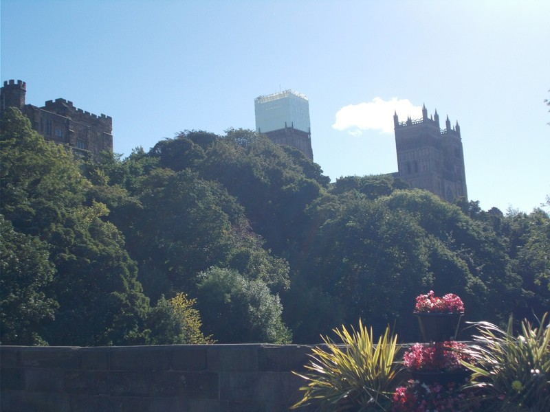DURHAM. CATHEDRAL FROM RIVER.