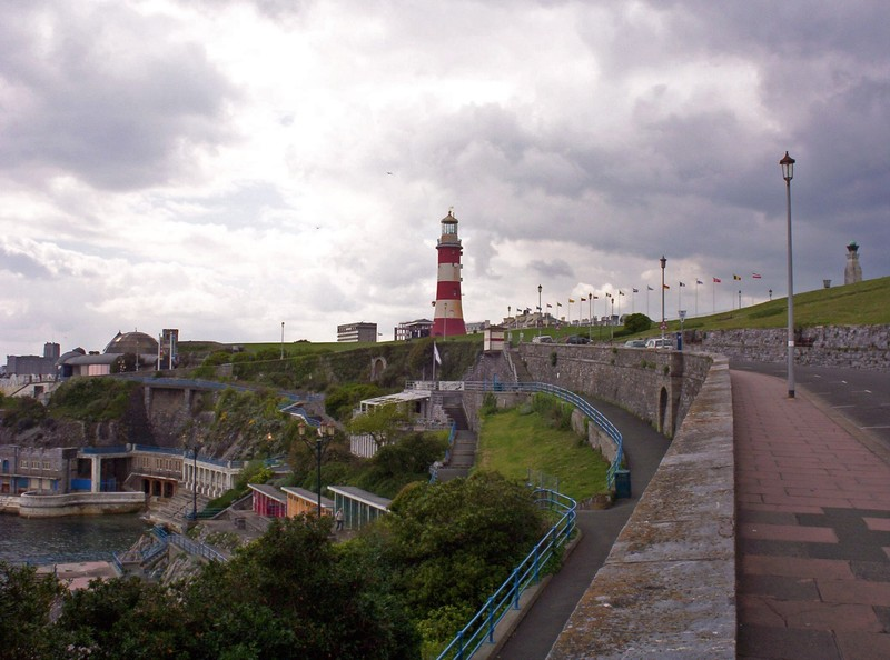 ENGLAND   PLYMOUTH.  Lighthouse on Plymouth Hoe.