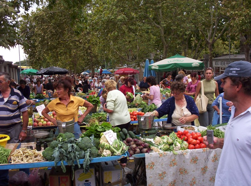 SPLIT CROATIA.  Open air market.