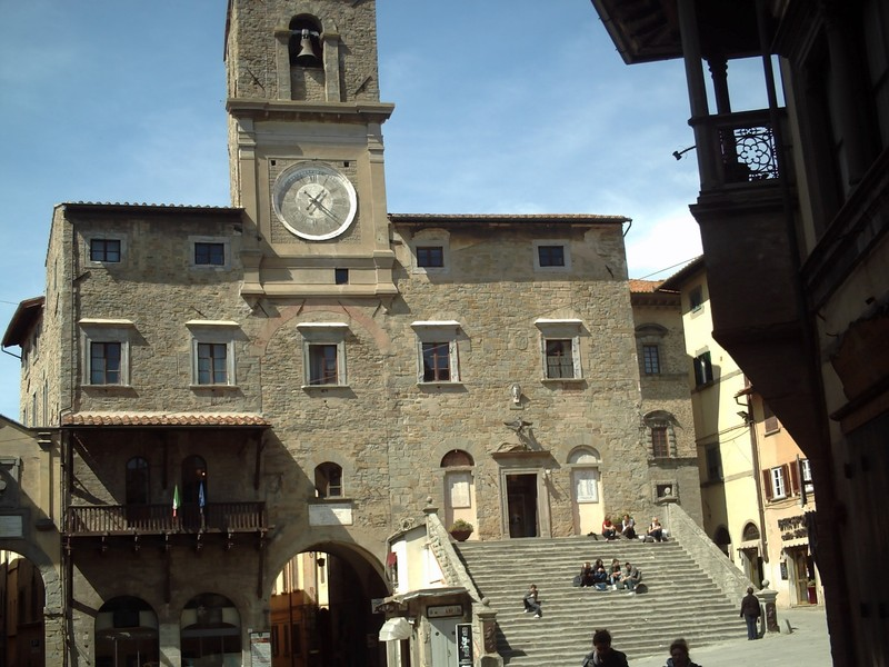 CORTONA  ITALY.  --  Palazzo Comunale,  town  hall, built 1241.