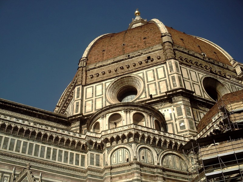 HISTORIC  FLORENCE  ITALY.  --  Dome  of  Cathedral---.Largest  brick  dome  in  the  world.