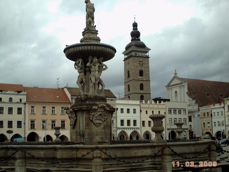 CZECH,  CESKY BUDEJOVICE,    Samson Fountain. 18th  century.