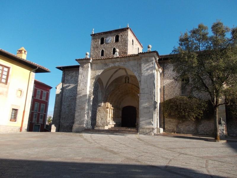 LLANES, SPAIN.  --  Iglesia de Santa  Maria del Conceyu a  catholic  church ,  in Plaza del Cristo Rey.