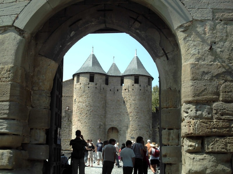 CARCASSONNE   FRANCE.  The  Citadel  way in.