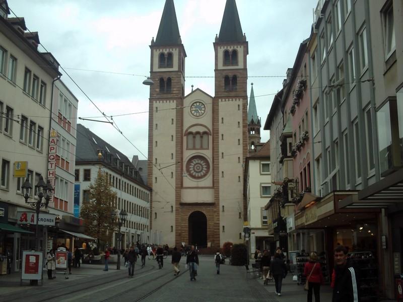 WURZBURG  GERMANY.    Kappele, built 1040 onwards.    R.C. Cathedral of St. Kilian.   Seat of a Bishop.  Building damaged in WW2.   Rebuilt 1945 onwards..