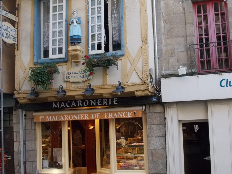 QUIMPER,  FRANCE.  --Did she just climb out of the window ?