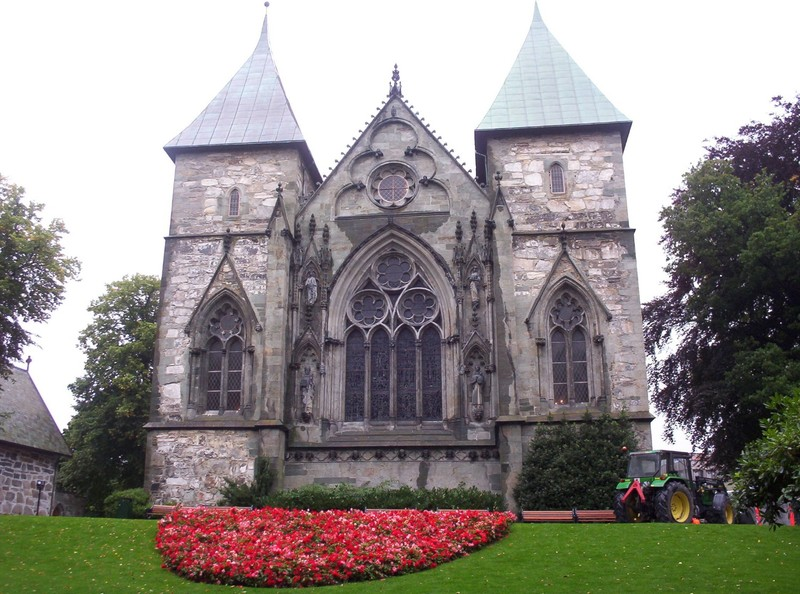 STAVANGER  NORWAY.      Cathedral of Saint Swithun.  The oldest cathedral in Norway.