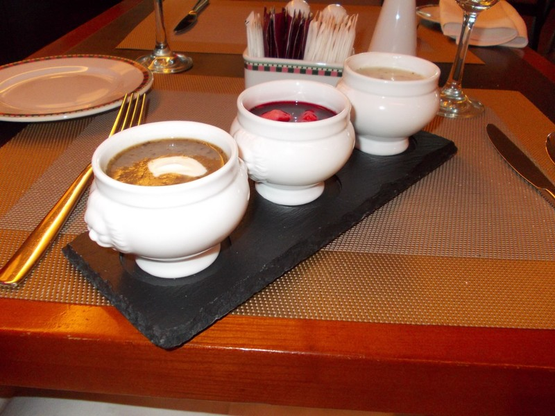 TORUN  POLAND.  I could not make up my mind ,on which soup to have ,, so ordered the triple  soup .