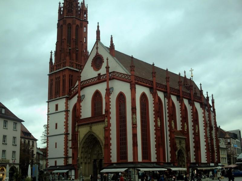 WURZBURG  GERMANY.     St Marys   started in 1377  in Marktplatz.