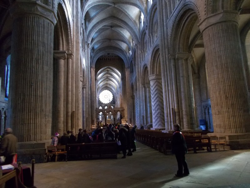 DURHAM CATHEDRAL NAVE.