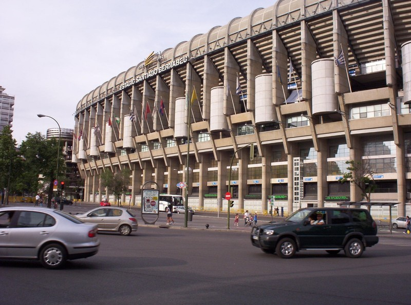 SPAIN  REAL  MADRID.     Stadium Santiago  Bernabeu.