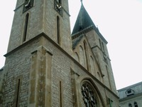 SARAJEVO.    Twin  towers  of Sacred  Heart  Cathedral.