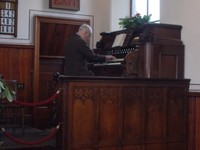 BEAMISH MUSEUM.Chapel, Man played a couple of hymns.