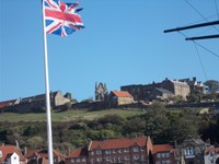 WHITBY, view from rail station front.