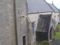 Church from oriel window in Tower.