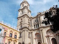 SPAIN  MALAGA... Tower of Cathedral.   84  metres high.   Completed  1782.