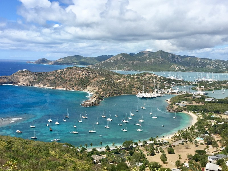 Beautiful view of English Harbor in Antigua