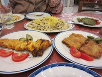 Some of the sumptious feast we had at Akhaven Hotel in Kerman