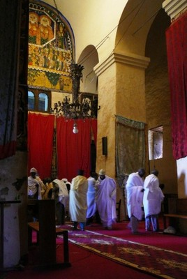 Inside Old St Mary's of Axum.