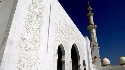Sheikh Zayed mosque in Abu Dhabi.