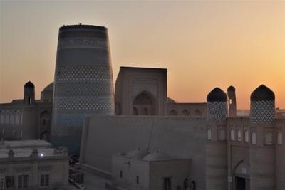 Sunset in Khiva.