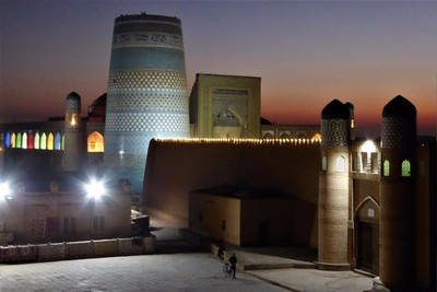 Sunset in Khiva.
