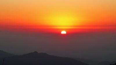 Sunrise from Tiger Hill near Darjeeling.