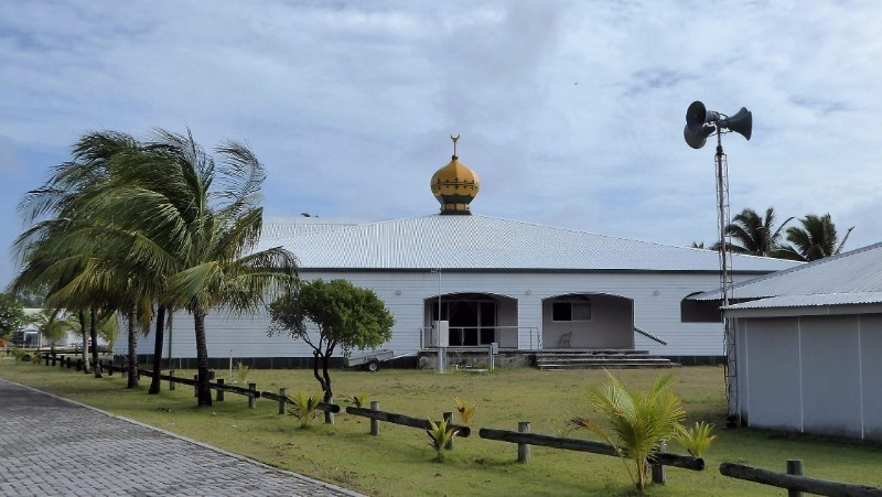 One of the mosques on Home Island.