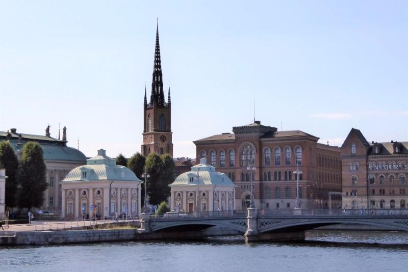 Sunny day in Stockholm.