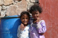 Children in Qalansiyah town.