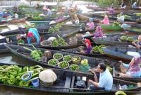 Lok Baintan floating market.