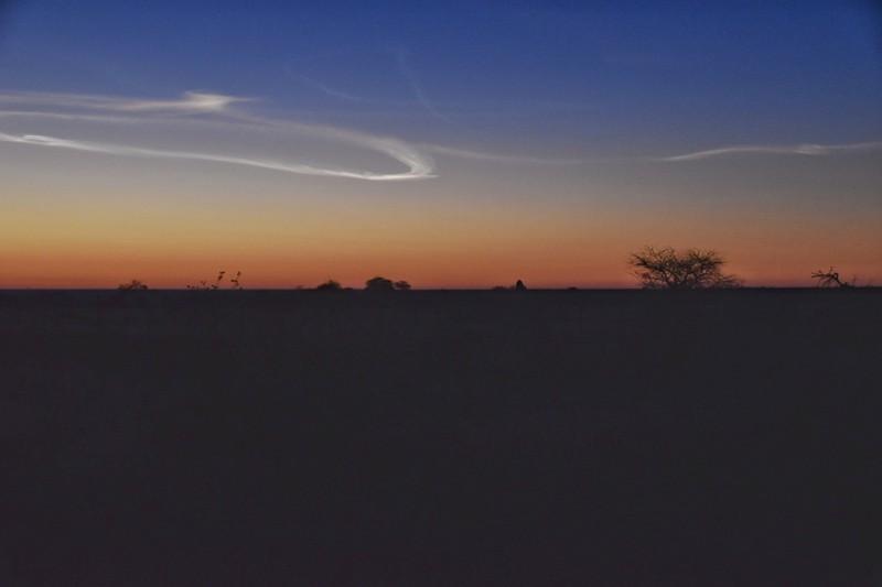 Sunrise at Namutoni Campsite