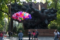 Soviet Glory Memorial and Balloons