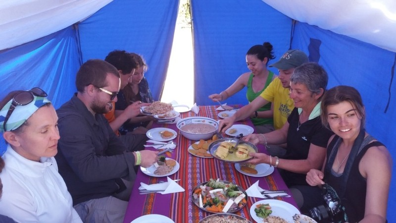 Inca Trail Short Camping Machupicchu 2 Days - Dinner Time