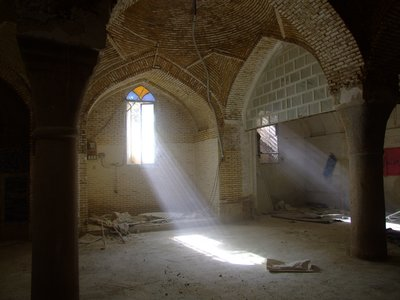 Light Beams in an Old Mosque in Shiraz