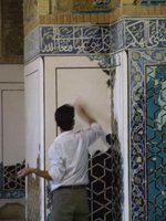 Renovating the blue mosque