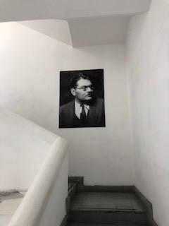 Autoretrato de Jose Clemente Orozco en su casa