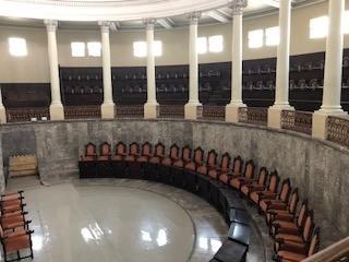 Salon de Congreso en el palacio de gobierno