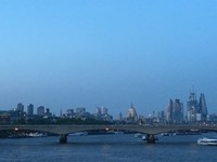 Crossing the Thames at Twilight
