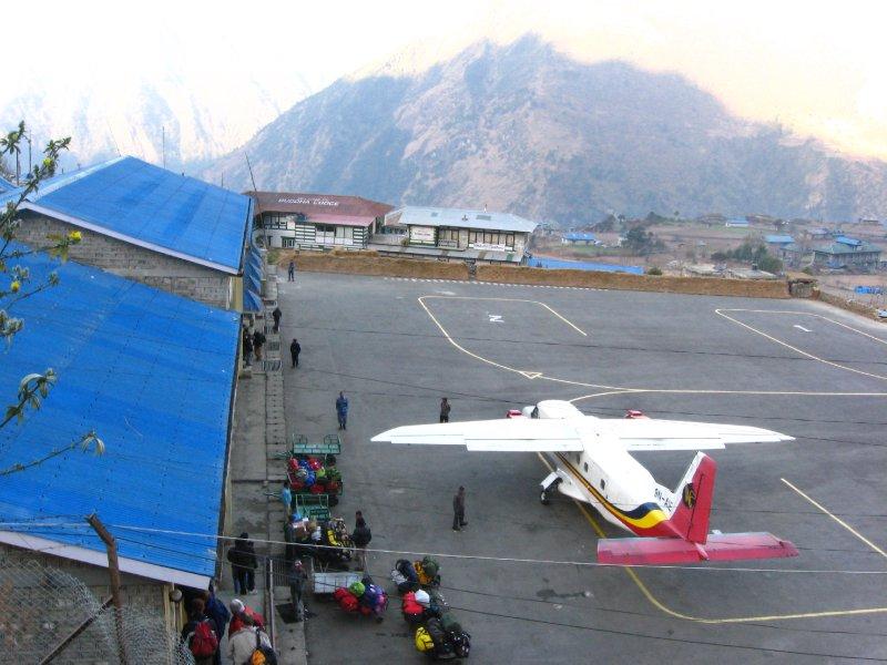 Plane in Lukla